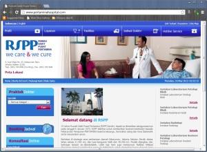 Tampilan Awal Website